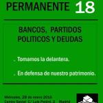 taller 18 Bancos, Partidos Políticos y Deudas