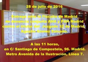 FISCALIA DE MADRID 28-7-2016